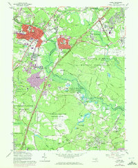 Download a high-resolution, GPS-compatible USGS topo map for Laurel, MD (1972 edition)