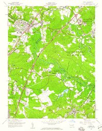 Download a high-resolution, GPS-compatible USGS topo map for Laurel, MD (1960 edition)