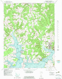 Download a high-resolution, GPS-compatible USGS topo map for Leonardtown, MD (1983 edition)