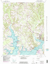 Download a high-resolution, GPS-compatible USGS topo map for Leonardtown, MD (1985 edition)