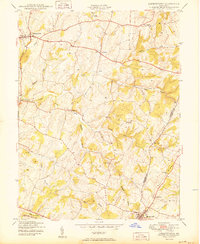 Download a high-resolution, GPS-compatible USGS topo map for Libertytown, MD (1950 edition)