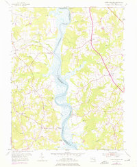 Download a high-resolution, GPS-compatible USGS topo map for Lower Marlboro, MD (1976 edition)