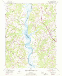 Download a high-resolution, GPS-compatible USGS topo map for Lower Marlboro, MD (1971 edition)