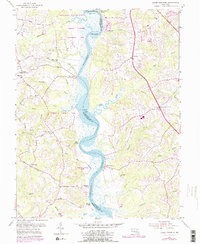 Download a high-resolution, GPS-compatible USGS topo map for Lower Marlboro, MD (1979 edition)