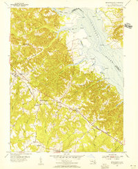 Download a high-resolution, GPS-compatible USGS topo map for Mechanicsville, MD (1956 edition)