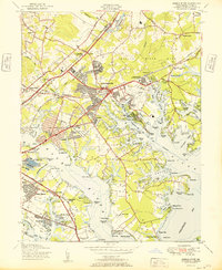 Download a high-resolution, GPS-compatible USGS topo map for Middle River, MD (1951 edition)