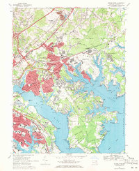 Download a high-resolution, GPS-compatible USGS topo map for Middle River, MD (1971 edition)