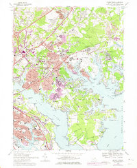 Download a high-resolution, GPS-compatible USGS topo map for Middle River, MD (1975 edition)