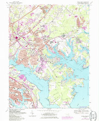 Download a high-resolution, GPS-compatible USGS topo map for Middle River, MD (1986 edition)