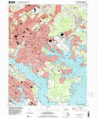 Download a high-resolution, GPS-compatible USGS topo map for Middle River, MD (2000 edition)