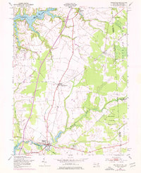 Download a high-resolution, GPS-compatible USGS topo map for Millington, MD (1976 edition)