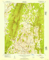 Download a high-resolution, GPS-compatible USGS topo map for Myersville, MD (1954 edition)