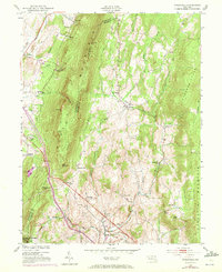 Download a high-resolution, GPS-compatible USGS topo map for Myersville, MD (1972 edition)