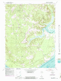 Download a high-resolution, GPS-compatible USGS topo map for Nanjemoy, MD (1987 edition)
