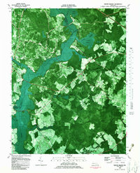 Download a high-resolution, GPS-compatible USGS topo map for Ninepin Branch, MD (1983 edition)