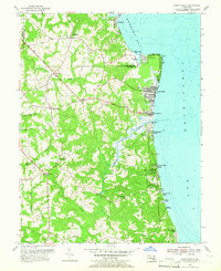 Download a high-resolution, GPS-compatible USGS topo map for North Beach, MD (1966 edition)