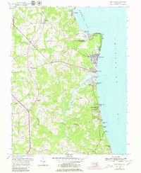 Download a high-resolution, GPS-compatible USGS topo map for North Beach, MD (1980 edition)