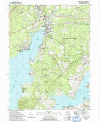 Download a high-resolution, GPS-compatible USGS topo map for North East, MD (1993 edition)
