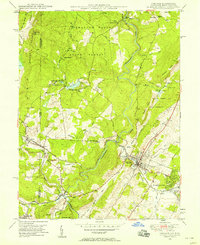 Download a high-resolution, GPS-compatible USGS topo map for Oakland, MD (1958 edition)
