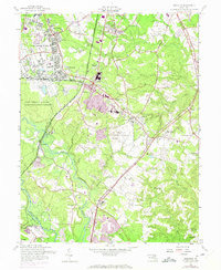 Download a high-resolution, GPS-compatible USGS topo map for Odenton, MD (1971 edition)