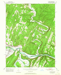 Download a high-resolution, GPS-compatible USGS topo map for Oldtown, MD (1965 edition)