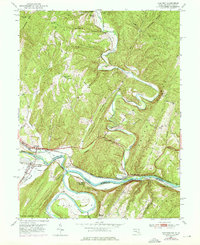 Download a high-resolution, GPS-compatible USGS topo map for Oldtown, MD (1976 edition)