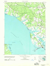 Download a high-resolution, GPS-compatible USGS topo map for Piney Point, MD (1953 edition)