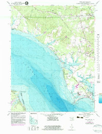 Download a high-resolution, GPS-compatible USGS topo map for Piney Point, MD (1983 edition)
