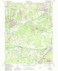 Download a high-resolution, GPS-compatible USGS topo map for Piscataway, MD (1985 edition)