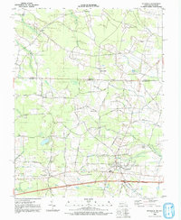 Download a high-resolution, GPS-compatible USGS topo map for Pittsville, MD (1992 edition)