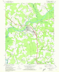 Download a high-resolution, GPS-compatible USGS topo map for Pocomoke City, MD (1972 edition)