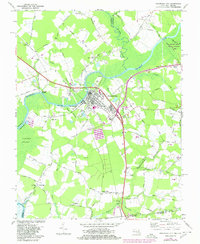 Download a high-resolution, GPS-compatible USGS topo map for Pocomoke City, MD (1980 edition)