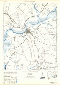 Download a high-resolution, GPS-compatible USGS topo map for Pocomoke City, MD (1953 edition)