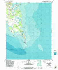 Download a high-resolution, GPS-compatible USGS topo map for Point Lookout, MD (1987 edition)