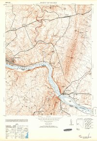 Download a high-resolution, GPS-compatible USGS topo map for Point of Rocks, MD (1953 edition)
