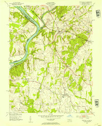 Download a high-resolution, GPS-compatible USGS topo map for Poolesville, MD (1954 edition)