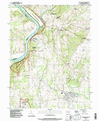 Download a high-resolution, GPS-compatible USGS topo map for Poolesville, MD (1996 edition)