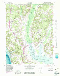 Download a high-resolution, GPS-compatible USGS topo map for Popes Creek, MD (1983 edition)