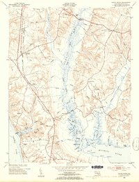 Download a high-resolution, GPS-compatible USGS topo map for Popes Creek, MD (1954 edition)