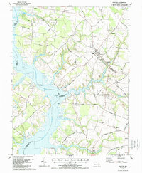 Download a high-resolution, GPS-compatible USGS topo map for Preston, MD (1988 edition)