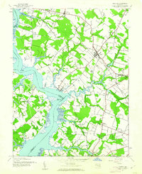 Download a high-resolution, GPS-compatible USGS topo map for Preston, MD (1962 edition)