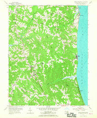 Download a high-resolution, GPS-compatible USGS topo map for Prince Frederick, MD (1967 edition)