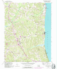 Download a high-resolution, GPS-compatible USGS topo map for Prince Frederick, MD (1994 edition)