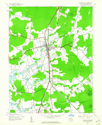 Download a high-resolution, GPS-compatible USGS topo map for Princess Anne, MD (1962 edition)