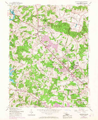 Download a high-resolution, GPS-compatible USGS topo map for Reisterstown, MD (1967 edition)