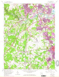Download a high-resolution, GPS-compatible USGS topo map for Relay, MD (1967 edition)