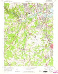 Download a high-resolution, GPS-compatible USGS topo map for Relay, MD (1965 edition)