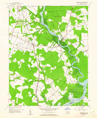 Download a high-resolution, GPS-compatible USGS topo map for Rhodesdale, MD (1962 edition)