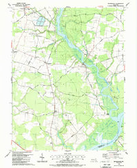 Download a high-resolution, GPS-compatible USGS topo map for Rhodesdale, MD (1988 edition)