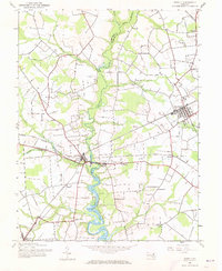Download a high-resolution, GPS-compatible USGS topo map for Ridgely, MD (1973 edition)